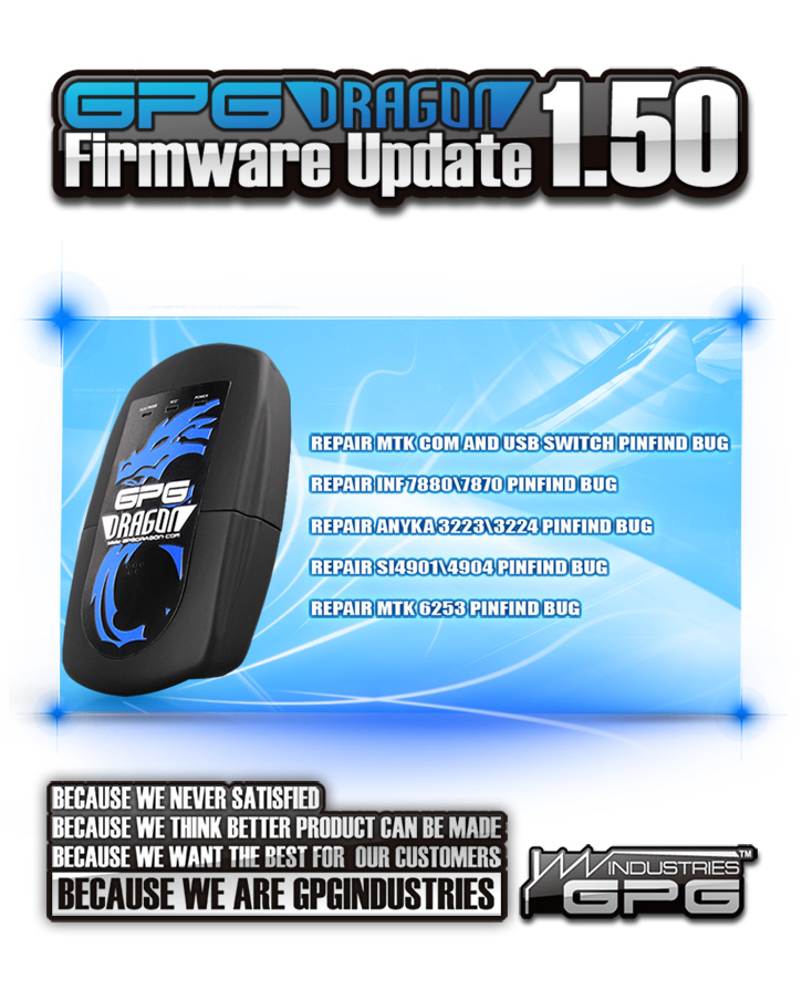 GPGDragon Firmware Update 725