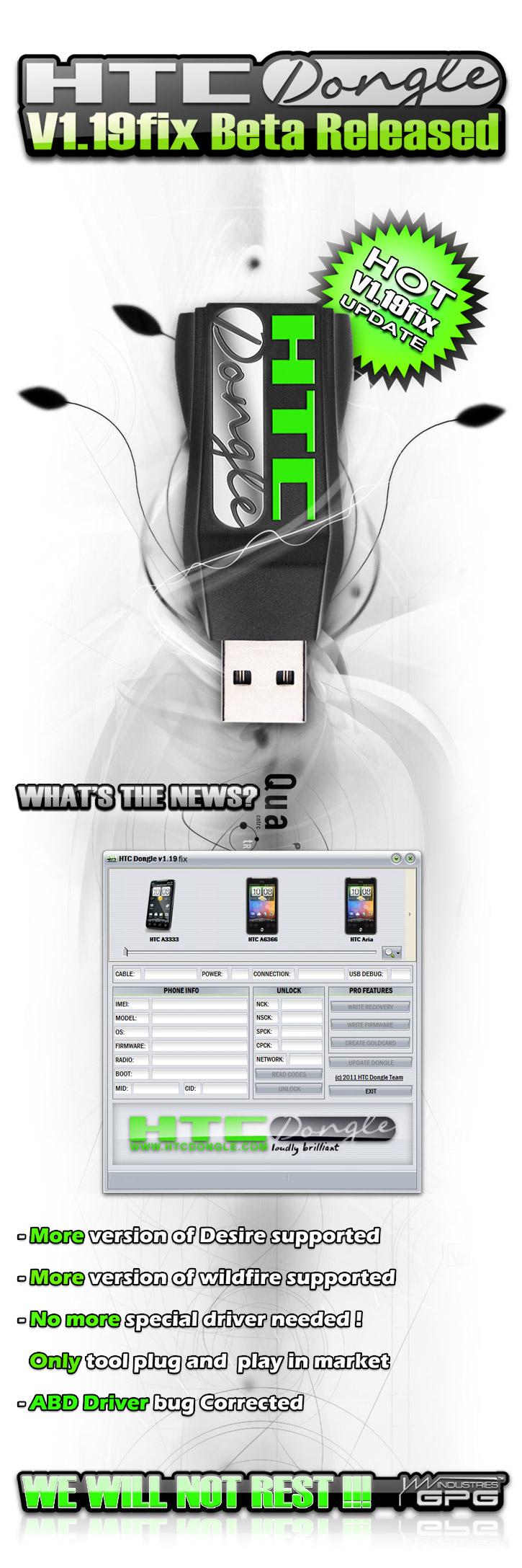 2011 04 27  HTCDongle V119fix Beta Released 725