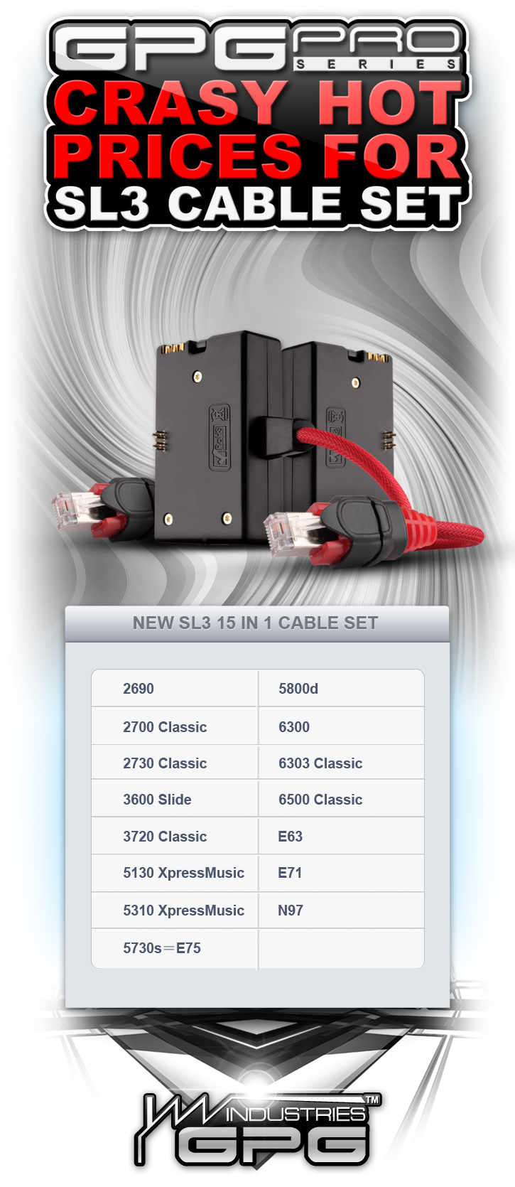 SL3 Pro 15 in 1 Cable set at Cost! 3000 pcs in stock!
