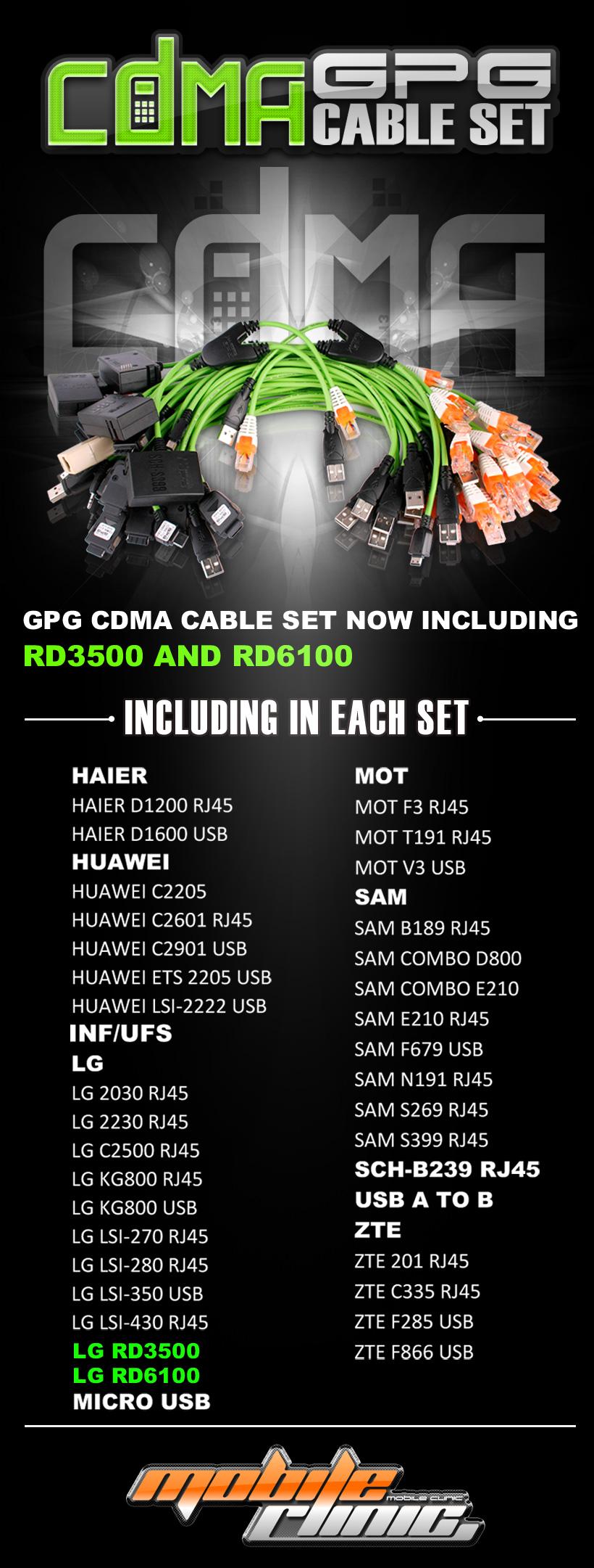 GPG CDMA cables set 21 725