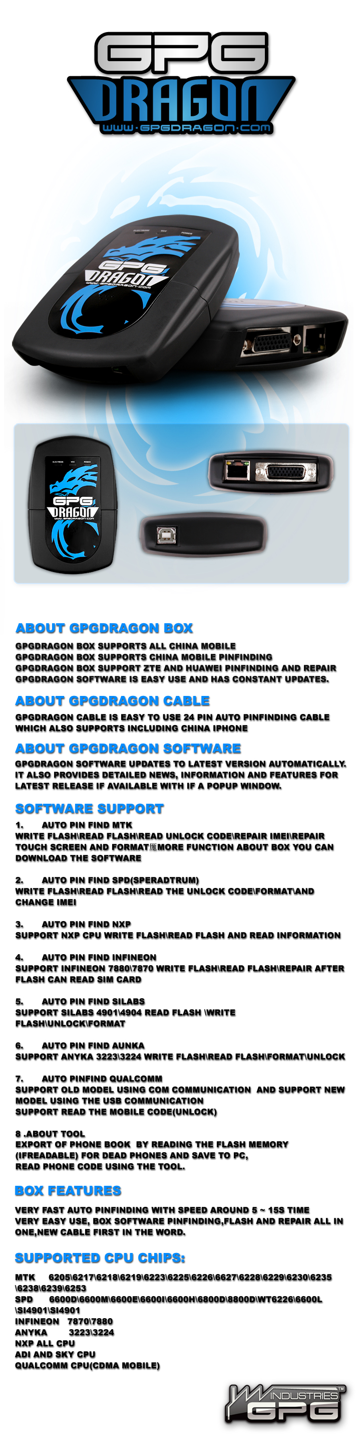GPGDragon simply the most advanced tool for chinese phones