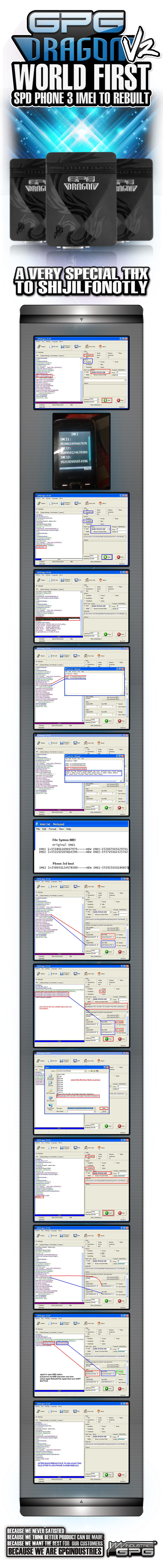Do you want Change the SPD 3 IMEI at once?