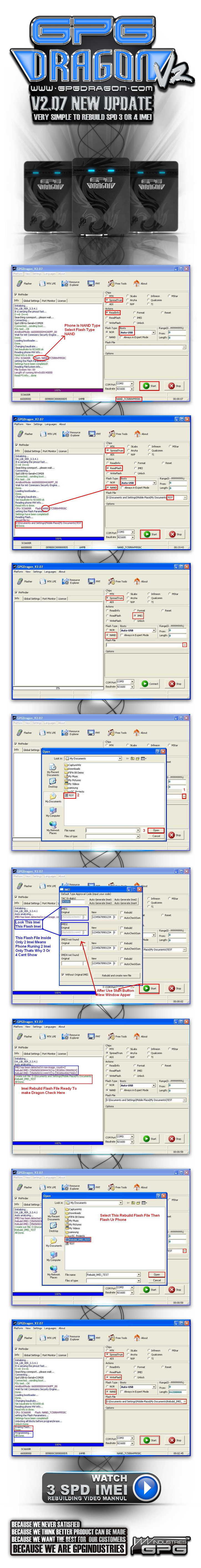 2011 06 14 Dragon207 New Update Very Simple To Rebuild SPD 2 OR 3 Imei 725