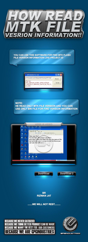 !!How read MTK file vesrion information!! 2011 6 24